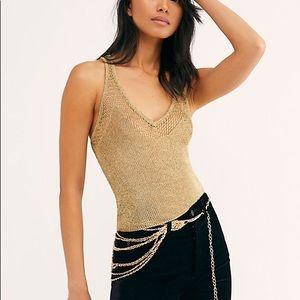 NWT metallic FP knit cami
